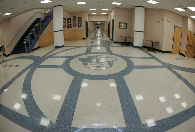 Moultrie Middle School Terrazzo Flooring in Mount Pleasant South Carolina