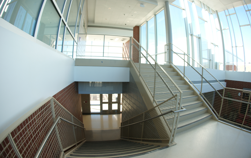 Precast Terrazzo Treads at Muller Road Middle School