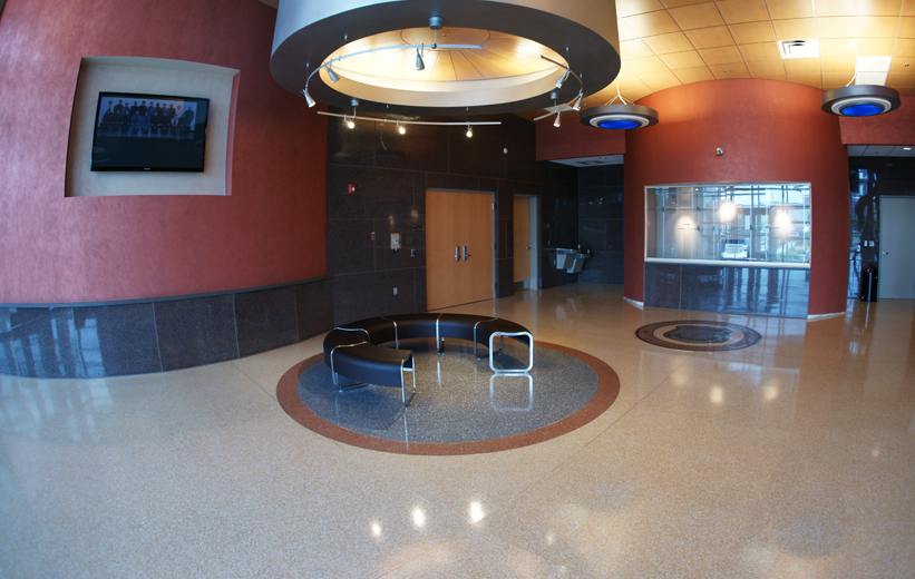 Norfolk Police Department Main Lobby with Terrazzo Flooring