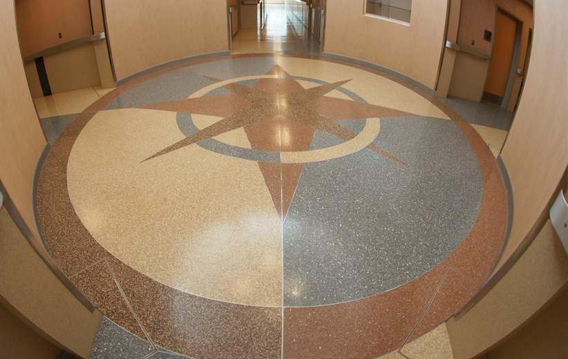 Terrazzo Compass Design Norfolk Police Department Virginia