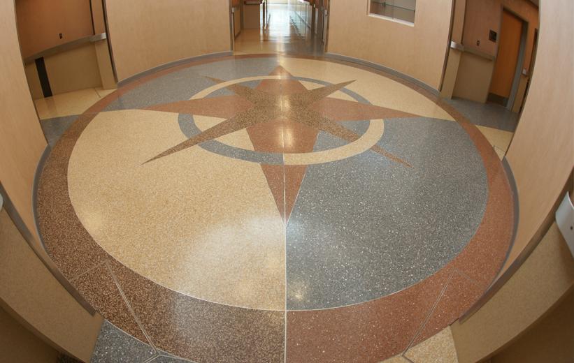 Terrazzo Compass Design Norfolk Police Department Virginia