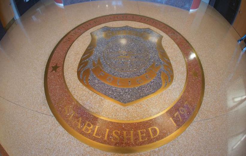 Police Shield Terrazzo Design