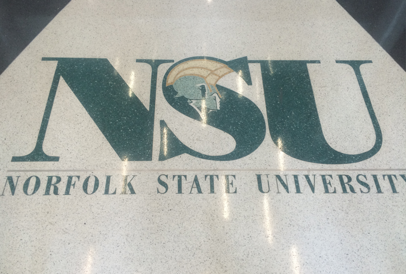 Norfolk State University Terrazzo Flooring Logo and Lettering