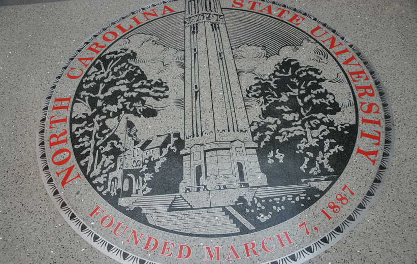 North Carolina State University Terrazzo Flooring with NCSU emblem