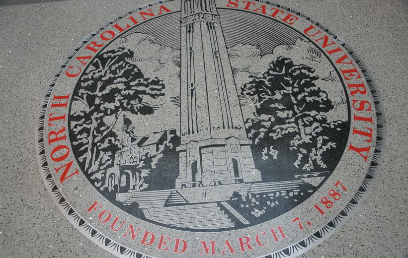 North Carolina State University Terrazzo Flooring with NCSU emblem