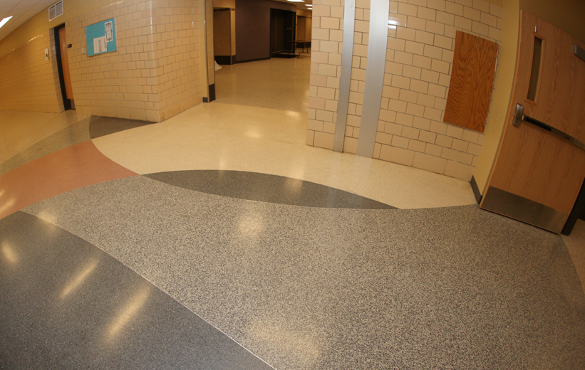 Achitectural Terrazzo Floor Plan at Northside High School