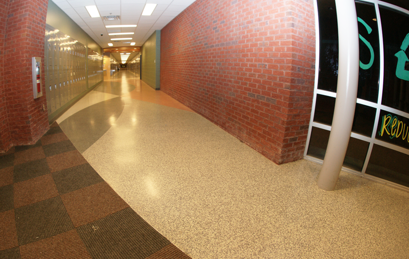 Terrazzo flooring at Northside High School