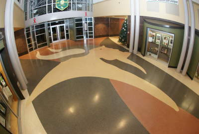 Northside High School Terrazzo Flooring in Jacksonville North Carolina