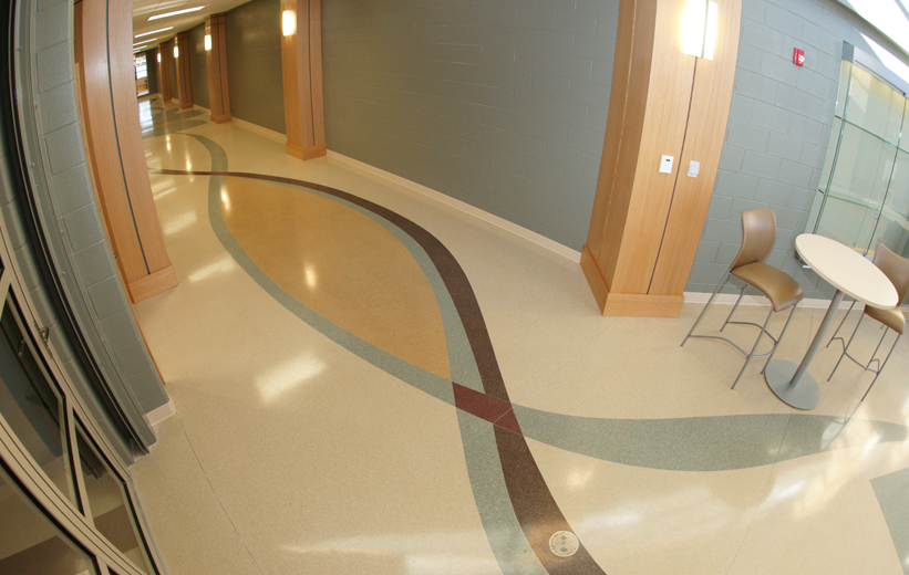Pelion High School with Terrazzo Flooring