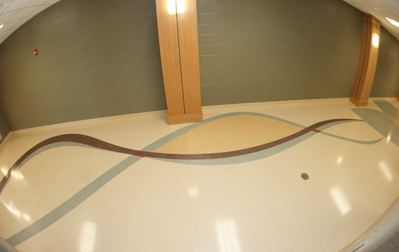 Wavy Terrazzo Design at Pelion High School