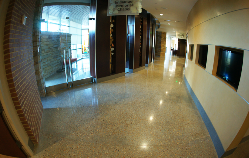 Resinous Terrazzo Flooring at Piedmont Newnan Hospital