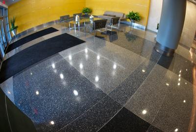 Reston Overlook apartment terrazzo flooring installation