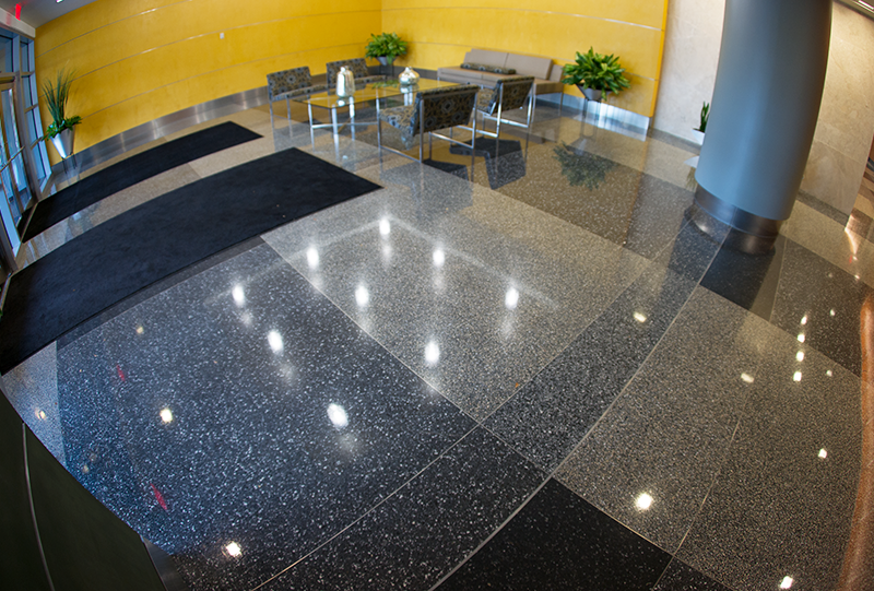 Reston Overlook apartment terrazzo flooring installation