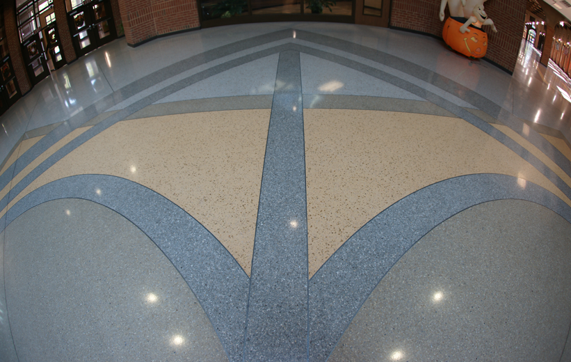 Geometric Terrazzo Design at Richmond Hill Middle School