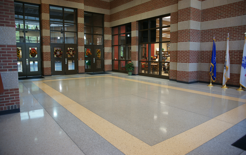 Terrazzo School Entrance at Richmond Hill Middle School