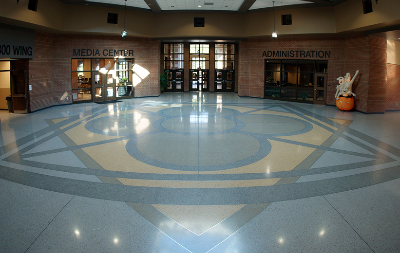Richmond Hill Middle School Terrazzo Installation