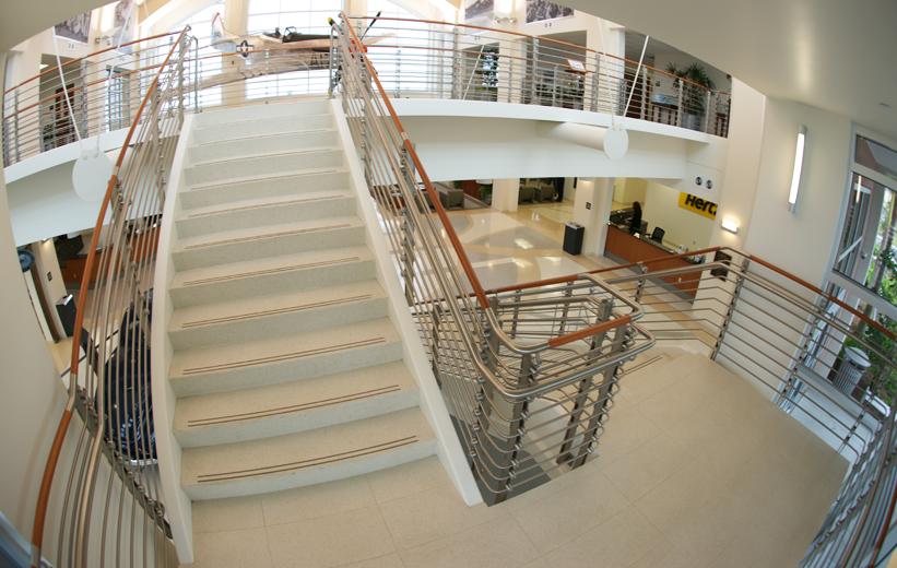 White Epoxy Terrazzo Treads and Risers Stairs | Doyle Dickerson Terrazzo