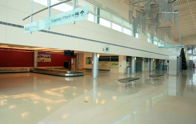 airport terminal design with terrazzo flooring installed by Doyle Dickerson Terrazzo