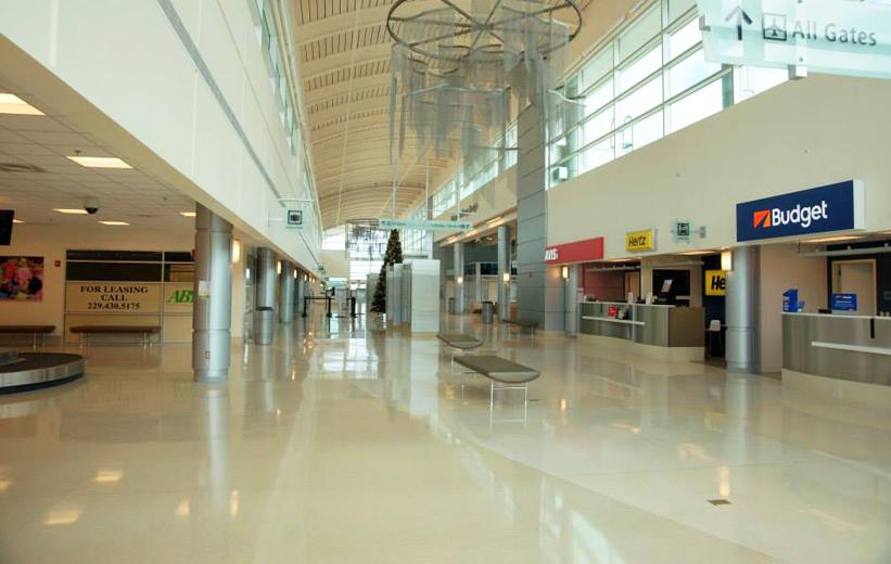 airport terrazzo flooring at Southwest Georgia Regional Airport