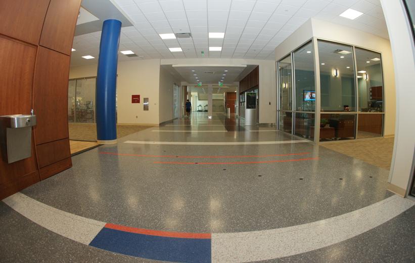 epoxy terrazzo flooring at Southwest Recreation Center UF