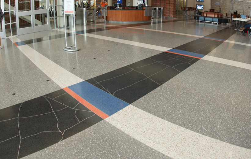 Terrazzo Flooring at the University of Florida Southwest Recreation Center