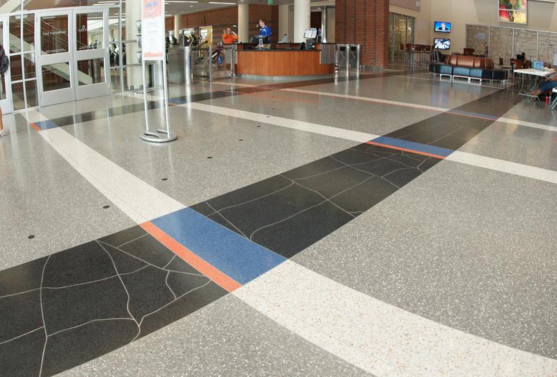 Southwest Recreation Center Terrazzo Flooring