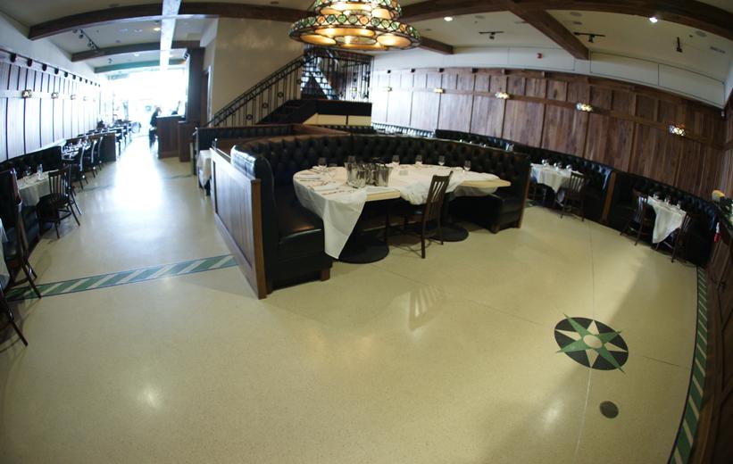 Stars on King Restaurant Epoxy Terrazzo Flooring Installation