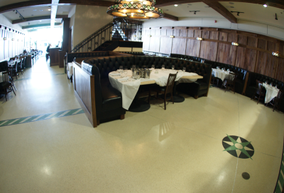 Stars on King Restaurant with seamless epoxy terrazzo flooring