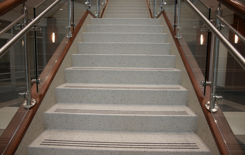 Terrazzo Treads and Risers Staircase