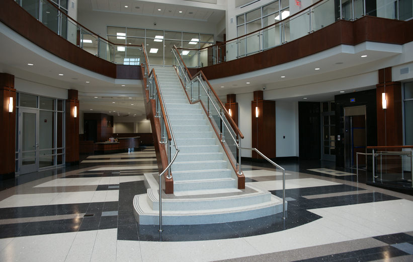 Suffolk Municipal Center Terrazzo Flooring and Stairs