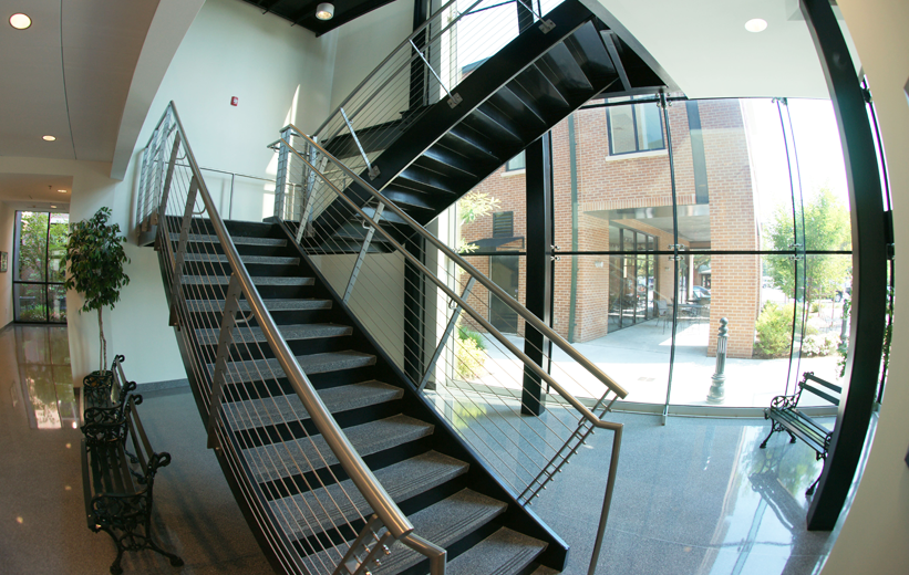 Half Turn Precast Terrazzo Staircase Summerville Town Hall
