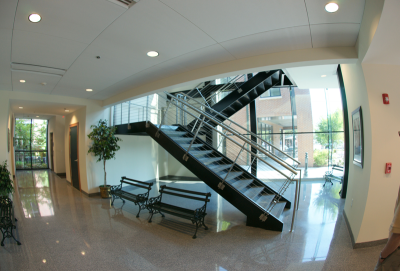 Summerville Town Hall Precast Terrazzo Stairs and Seamless Terrazzo Floor