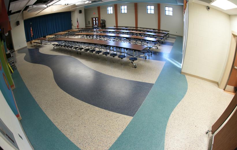 Cafeteria Terrazzo Flooring at T. Harry Garrett Elementary School