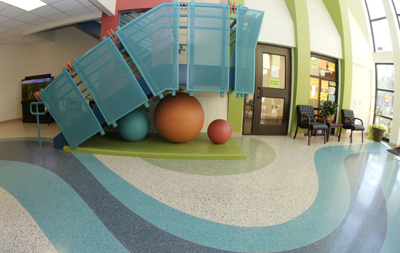 T. Harry Garrett Elementary School with Terrazzo Flooring