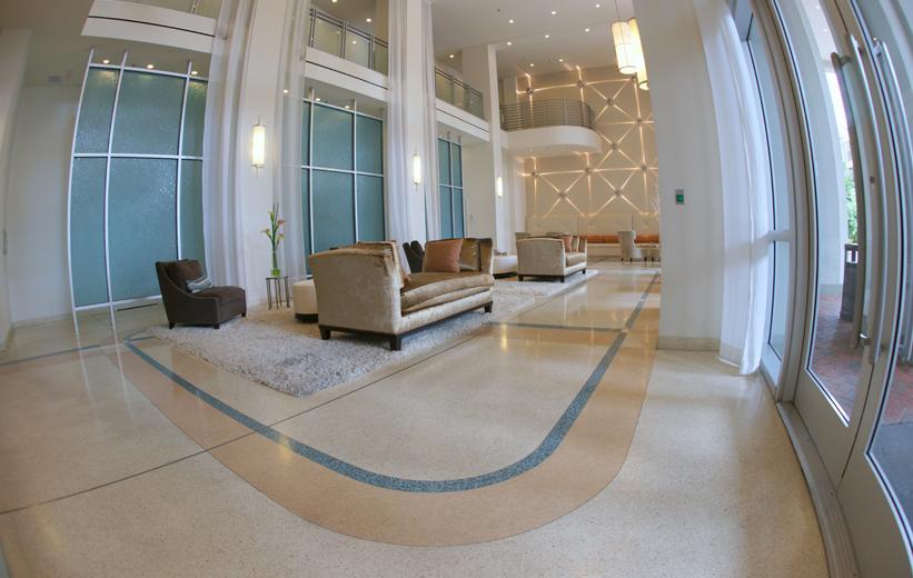 Epoxy terrazzo flooring at The Paramount 415 in Orlando, Florida