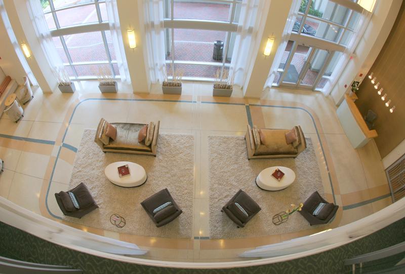 The Paramount 415 interior terrazzo design