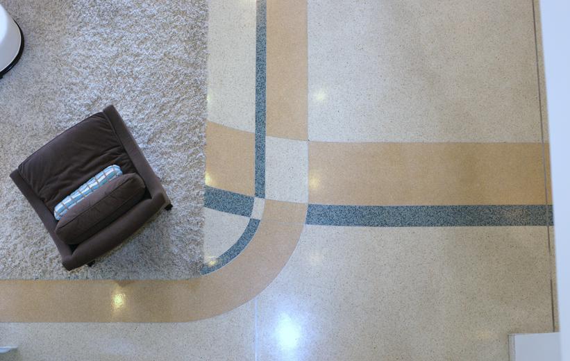 The Paramount 415 with epoxy terrazzo flooring