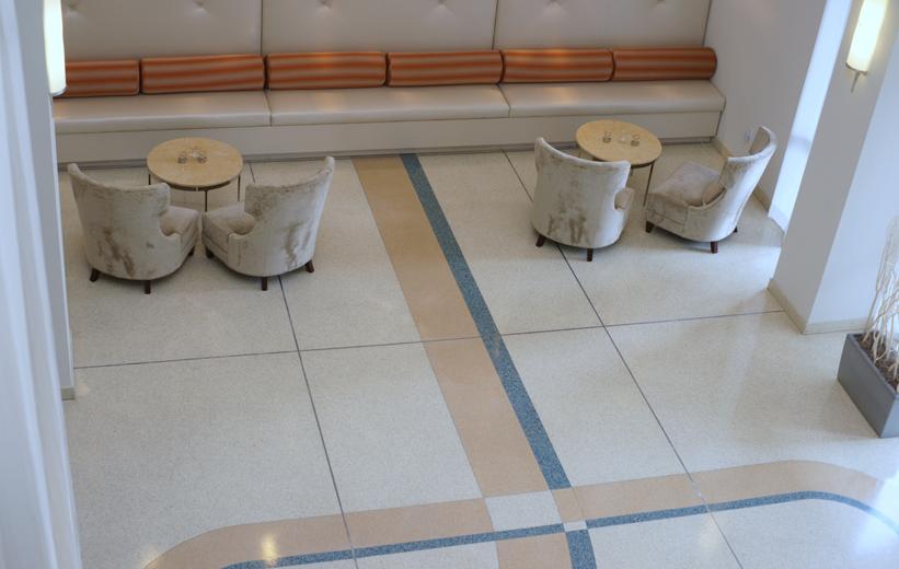 The Paramount 415 interior terrazzo flooring design