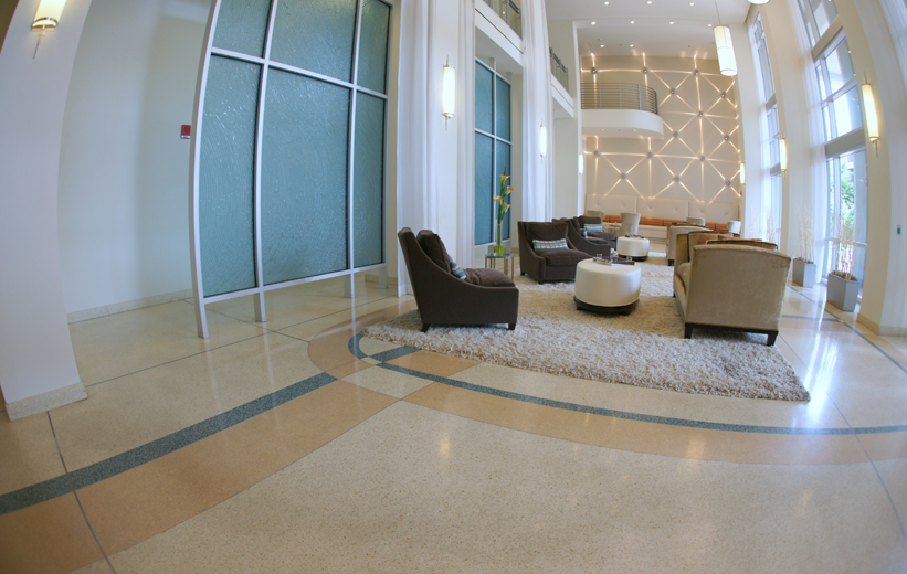 The Paramount 415 with epoxy terrazzo floors in Orlando, Florida