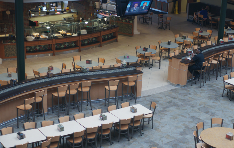 Large dining hall at Troy University in Alabama