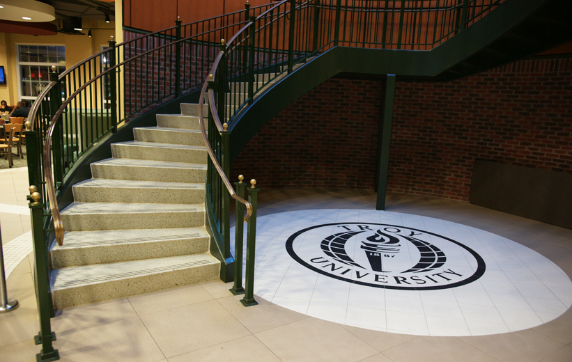 Terrazzo Tile installation at Troy University in Alabama