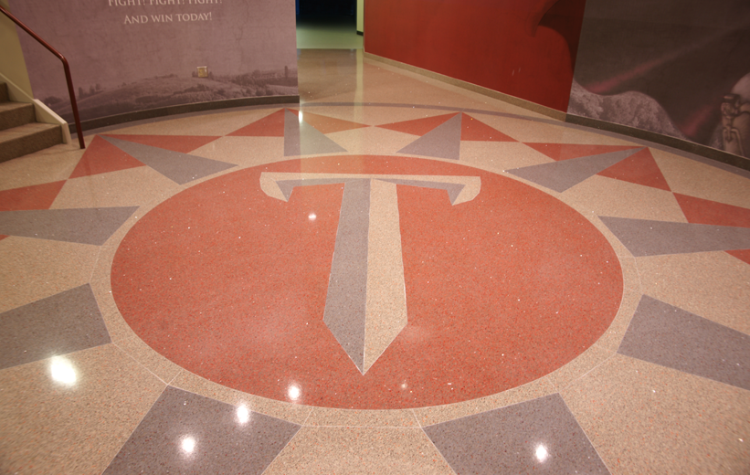 High-end terrazzo floor at the Troy University Multisports Complex