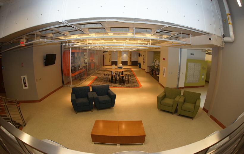 Epoxy terrazzo flooring at UNCC Prospector Hall