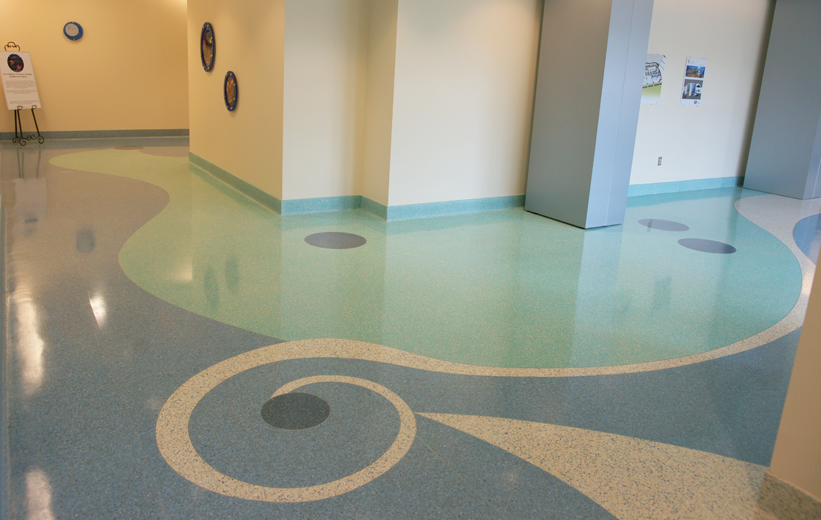 Healthcare Design Terrazzo at USA Women's and Children's Hospital