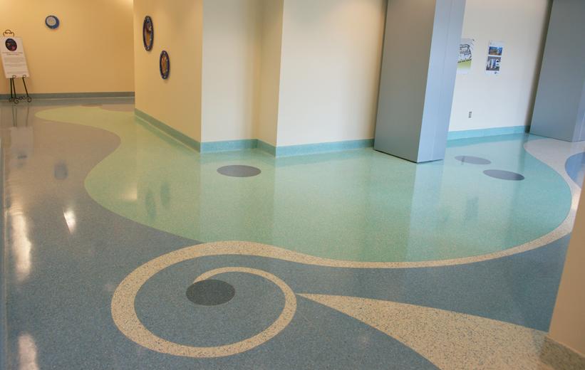 Healthcare Design Terrazzo at USA Women's and Children's Hospital