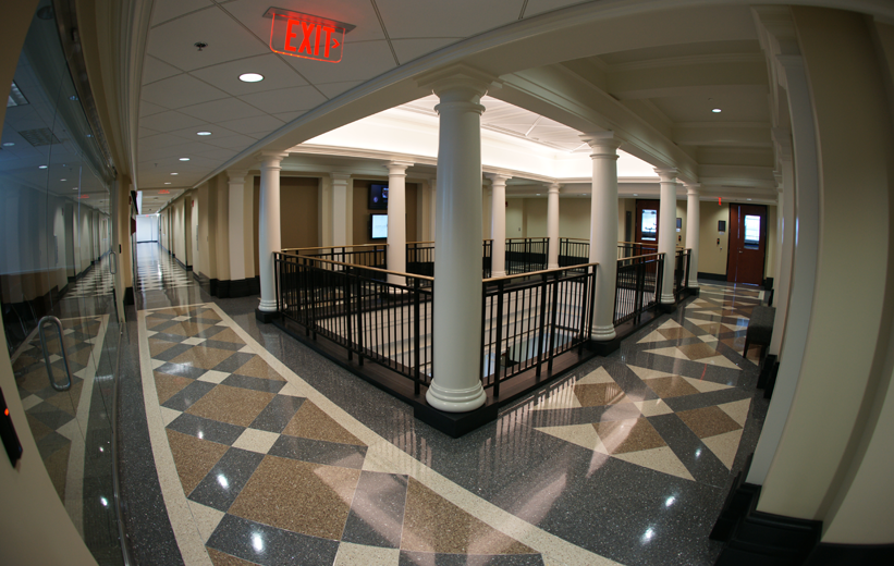Beautiful epoxy terrazzo flooring at the University of Alabama