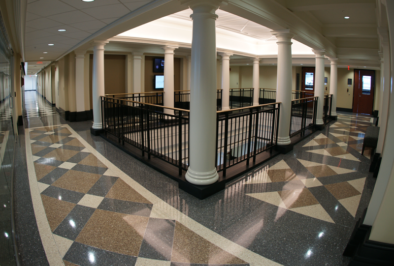 University of Alabama Terrazzo Geometric Flooring Installation