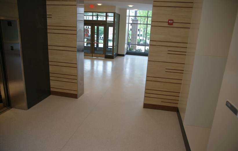 White Epoxy Terrazzo Floors installed at the University of Maryland