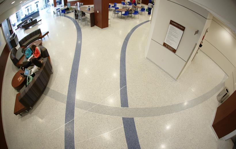 University of Memphis Terrazzo Flooring Installation