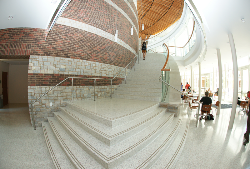 University of Virginia Terrazzo Flooring Installation with Stairs